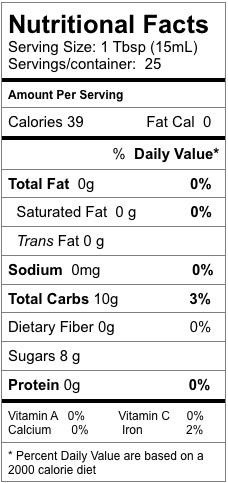 Nutrition information for Vermont Maple Dark Balsamic Vinegar